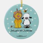Ornamento verdadero del navidad del león y del cor ornaments para arbol de navidad