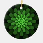 Ornamento verde abstracto adorno de navidad