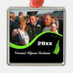 Ornamento verde adaptable de la graduación de la b ornamento para arbol de navidad