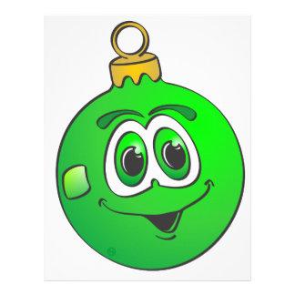 Ornamento verde Cartoon.png del navidad Plantilla De Membrete
