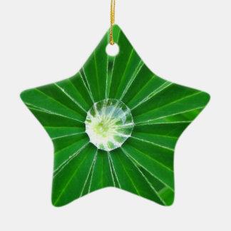 Ornamento verde de la energía adorno navideño de cerámica en forma de estrella
