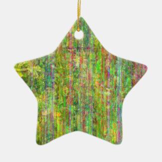Ornamento verde de la estrella ornamentos de reyes magos