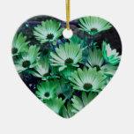Ornamento verde de la flor de las margaritas afric adorno para reyes
