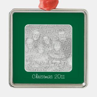Ornamento verde de la foto del navidad ornamente de reyes