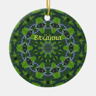Ornamento verde de la mandala ornamento para reyes magos