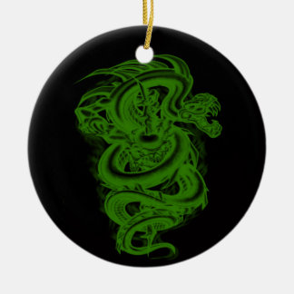 Ornamento verde de la serpiente ornaments para arbol de navidad