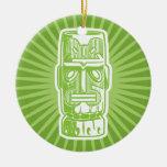 Ornamento verde de Tiki Ornamento De Reyes Magos