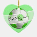 Ornamento verde del árbol de navidad del balón de  adorno