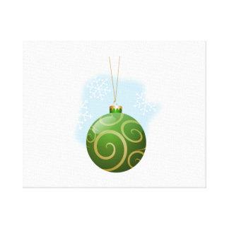 Ornamento verde del árbol de navidad lona estirada galerías