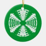 Ornamento verde del caramelo duro ornamentos de reyes