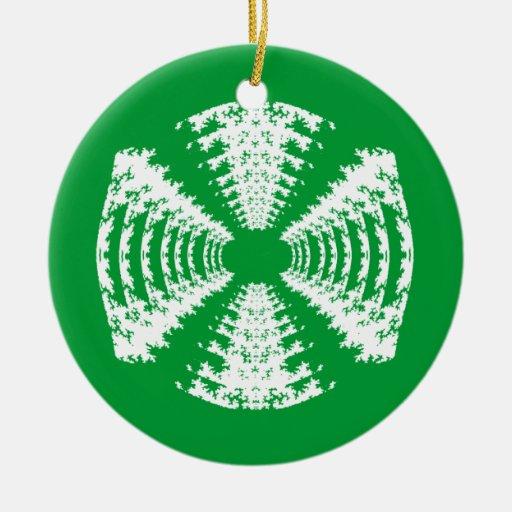 Ornamento verde del caramelo duro adorno redondo de cerámica