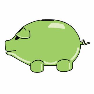 Ornamento verde del cerdo adorno fotoescultura