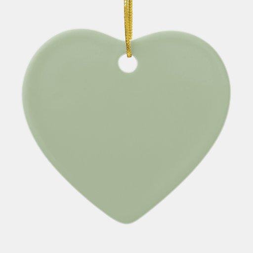 Ornamento verde del corazón de Rainee Ornamentos Para Reyes Magos