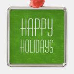 Ornamento verde del día de fiesta del vintage ornamentos de navidad