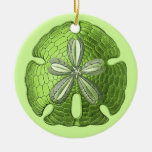 Ornamento verde del dólar de arena adorno de reyes