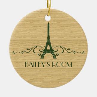 Ornamento verde del Flourish del francés Ornamento Para Reyes Magos