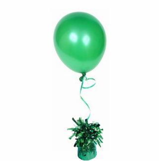 Ornamento verde del globo adorno fotoescultura