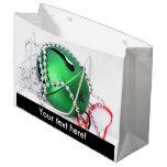 Ornamento verde del navidad bolsa de regalo grande