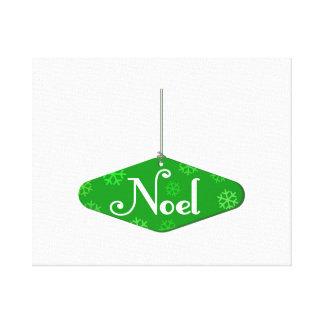 Ornamento verde del navidad de Noel Impresión De Lienzo