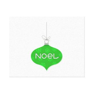 Ornamento verde del navidad de Noel Impresiones En Lienzo Estiradas
