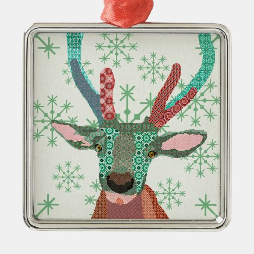 Ornamento verde del navidad del copo de nieve del  ornamento para arbol de navidad