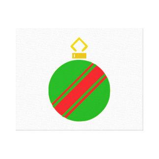 Ornamento verde del navidad lona envuelta para galerias