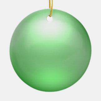 Ornamento verde del orbe adorno para reyes