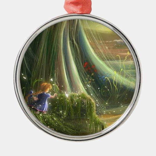 ornamento verde imaginario del chica del dibujo ornamentos para reyes magos