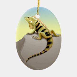Ornamento verde mexicano del lagarto de la iguana ornatos