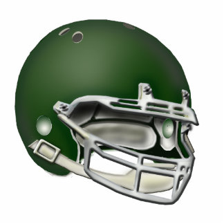 Ornamento verde oscuro del casco de fútbol america esculturas fotográficas