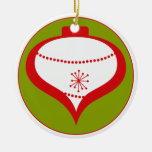 Ornamento verde retro adornos de navidad