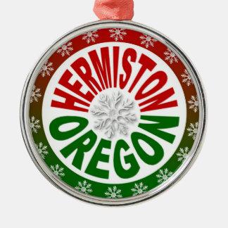 Ornamento verde rojo de Hermiston Oregon Ornatos