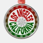 Ornamento verde rojo de Los Ángeles California Ornamente De Reyes