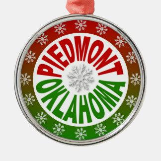 Ornamento verde rojo de Piamonte Oklahoma Ornamente De Reyes
