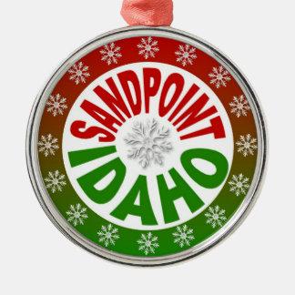 Ornamento verde rojo de Sandpoint Idaho Ornamentos De Reyes