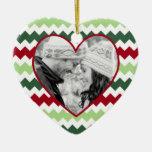Ornamento verde rojo del navidad de la foto del ornamento para reyes magos
