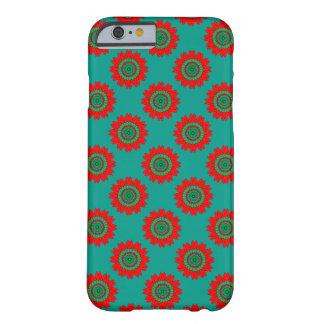 Ornamento verde rojo en el caso de Barely There Funda Barely There iPhone 6