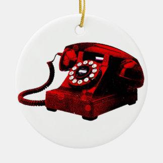 Ornamento viejo de la cabina de teléfonos del adorno de reyes