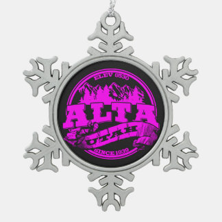 Ornamento viejo del copo de nieve del círculo de A Adornos