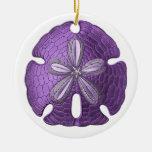 Ornamento violeta del dólar de arena adorno de reyes
