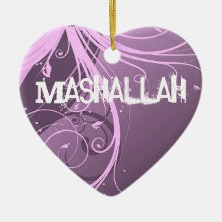 Ornamento violeta islámico de Mashallah Ornamento Para Arbol De Navidad