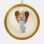 Ornamento vivo del ángel de la hermana ornamentos de reyes