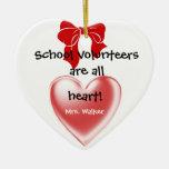 Ornamento voluntario del navidad de la escuela ornato