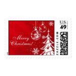 Ornamento y árbol del navidad rojo y blanco