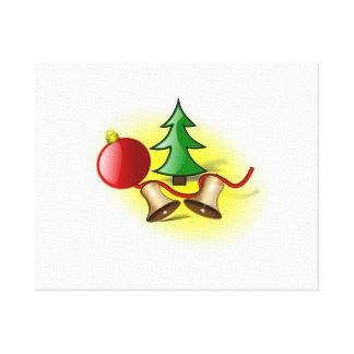 Ornamento y Belces del árbol de navidad Lienzo Envuelto Para Galerias