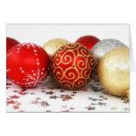 Ornamentos 1 del navidad felicitación