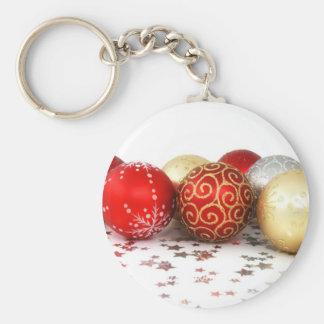 Ornamentos 1 del navidad llavero redondo tipo pin