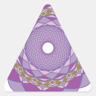 Ornamentos 2 de la circular pegatina triangular