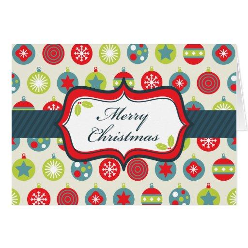 Ornamentos 2 de las Felices Navidad Tarjeta De Felicitación