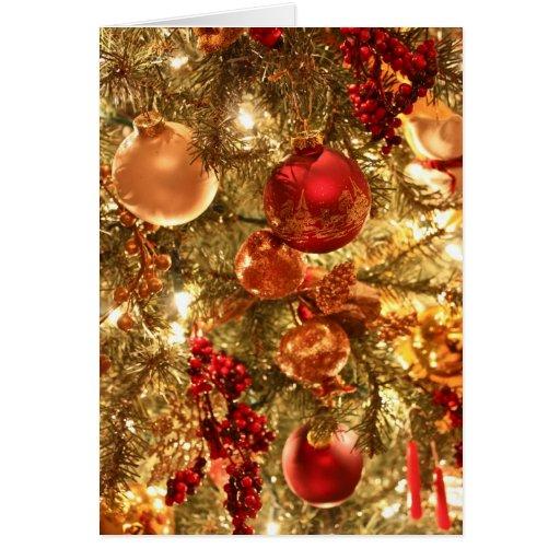 Ornamentos 2 del navidad tarjeta de felicitación